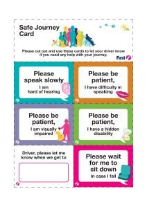 Safe Journey Card
